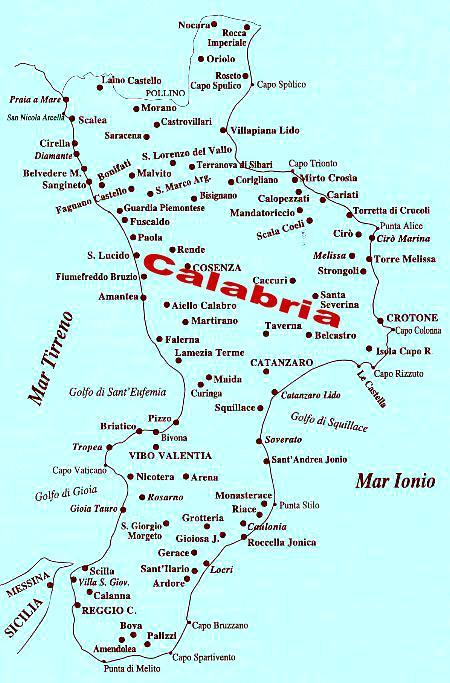 Calabria Costa Tirrenica Cartina.Verso I Borghi E Le Fortezze Della Calabria Alla Scoperta Dei Castelli Lungo La Costa Tirrenica